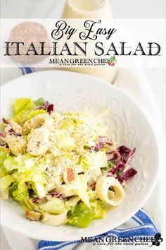 Big Easy Italian Salad is part leafy green salad and part antipasto salad. Dressed in our Creamy Italian Salad Dressing which makes the flavor pop it's.