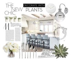 """""""Home Edit: Decorating with Plants"""" by withlovehayley ❤ liked on Polyvore featuring interior, interiors, interior design, home, home decor, interior decorating, Menu, Allstate Floral, New Growth Designs and Robbe & Berking"""