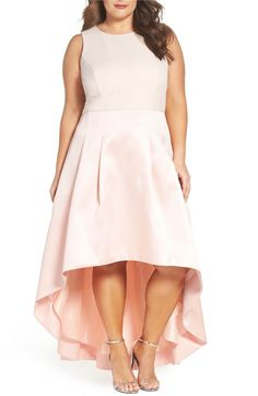 Maid of honor dress - Eliza J Crepe & Mikado High/Low Gown (Plus Size)