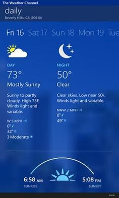 Download The Weather Channel 2.2.0.3 XAP For Windows Phone