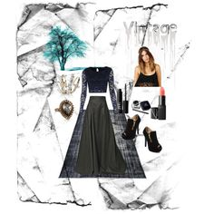 """Vintage"" by lexidunn on Polyvore"