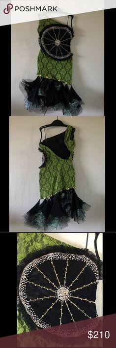 Latin Competition Dress Latin competition dress. Fits a slim girl. Nice quality. Swarovski stones. Height 140cm. Waist 50-55cm. Hips 63-67cm. Used 2 times. Dresses One Shoulder