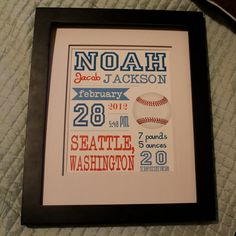 Customized Baseball Theme Nursery Print  8x10 by lovelylittleparty, $18.00