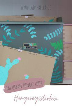 DIY-Bastelanleitung im Urban Jungle Look mit den Kreativmarkern von PILOT PEN zum Nachmachen. Hübsche Methode für ein aufgeräumtes Büro und Arbeitszimmer. Schluss mit unübersichtlicher Ablage. #diy #pilotpen #basteln #ordnung #aufräumen Diy Projects To Try, Design Projects, Marker, Diy Inspiration, Diy Design, Toy Chest, Diy Home Decor, Urban, Day