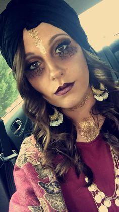 Creepy Fortune Teller Makeup Halloween 2015