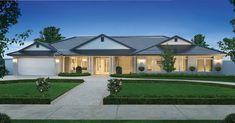 Porter Davis Homes - House Design: Hillside Best House Plans, Dream House Plans, House Floor Plans, 4 Bedroom House Designs, Bedroom House Plans, Hamptons Style Homes, Hamptons House, Bungalow Homes, Ranch Style Homes