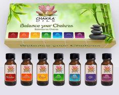 7 Chakra Oils Essential Oils Kit (Floral) Set of 7 Oil Bottles (0.5 oz/15 ml) each 7 Chakra Stones http://www.amazon.com/dp/B00BSZVAVE/ref=cm_sw_r_pi_dp_Ej4kvb1HA00NS