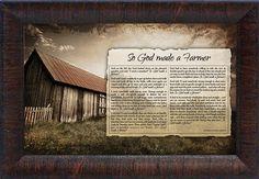 So God Made a Farmer Framed Memorabilia