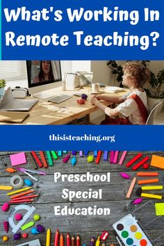 Remote Learning in the Preschool Special Education Classroom~ What's working for me? How I have changed my remote teaching over the last 7 months to increase my student's engagment thru using materials, visuals, consistency, & more. Learning Resources, Kids Learning, Classroom Resources, Autism Classroom, Preschool Classroom, Preschool Special Education, Primary Education, Farm Lessons, What Is Work