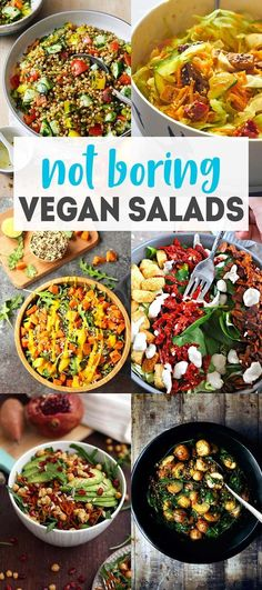 15 Hearty Vegan Salad Recipes that are full of incredible flavor and texture and will leave you satisfied! #karissasvegankitchen #cleaneating #healthysalads via @karissasvegankitchen