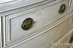 Twin Leaf Cottage: Vintage Dresser Makeover - Homemade Chalk Painting Tips
