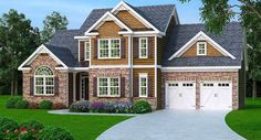 2 Story Master Down Home Plan - 75402GB | Architectural Designs - House Plans