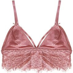 e3a72e7188 Humble Chic NY Strappy Eyelash Bralette ( 28) ❤ liked on Polyvore featuring  intimates