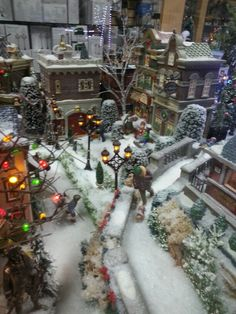 Pin by Carlena Blevins on Villiage Displays Christmas Village Decorations, Christmas Tree Village, Christmas Village Accessories, Christmas In The City, Christmas Town, Christmas Scenes, Christmas Villages, Noel Christmas, Victorian Christmas