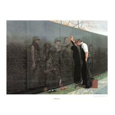 """I remember choosing this artwork """"Vietnam Reflections"""" to do as a project. The image is so powerful"""