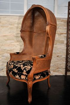 A pair of Porters chairs by Weiman, hooded chair | From a unique collection of antique and modern wingback chairs at https://www.1stdibs.com/furniture/seating/wingback-chairs/