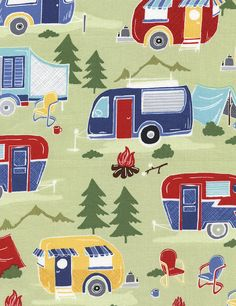 Timeless Treasures Campers 1 Yard by Jillianleighfabrics on Etsy