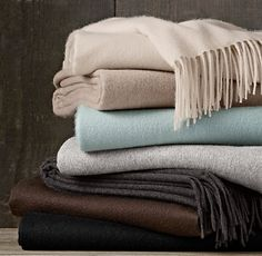 Cashmere Throw from Restoration Hardware. Shop more products from Restoration Hardware on Wanelo. Big Girl Bedrooms, Girls Bedroom, Master Bedroom, Cashmere Throw, Brick And Stone, Textile Fabrics, Wide Plank, Bed Throws, Muted Colors