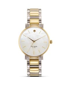 kate spade new york Gramercy Bracelet Watch, 34mm | Bloomingdale's I know I just bought a watch but i LOVE this two toned one.