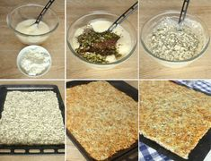 Nyttigt Kesobröd utan mjöl – Lindas Bakskola Lchf, Cereal, Oatmeal, Grains, Brunch, Food And Drink, Rice, Breakfast, Recipes