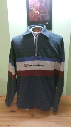 15fd4bbafe96 Vintage Unisex Champions Half Zip Sweater. by VintageMixWest on Etsy Half  Zip Sweaters