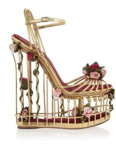 Get the must-have wedges of this season! These Dolce&Gabbana Metallic Gold Dolce & Gabbana Rose Embellished Leather Floral Cage Wedges Size EU 37 (Approx. US Regular (M, B) are a top 10 member favorite on Tradesy. Caged Sandals, Metallic Sandals, Embellished Sandals, Strappy Sandals Heels, Caged Heels, Strap Sandals, Leather Sandals, Wedge Sandals, Suede Shoes