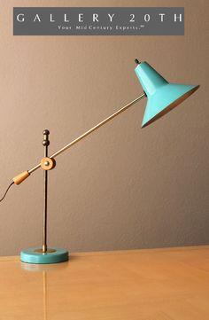 Funky Desk Lamp paul mccobb gerald thurston lightolier atomic modern light table