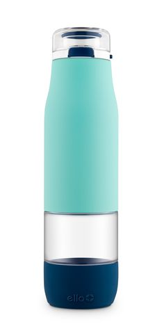 861e1cac31 Ello Aura Glass Water Bottle is designed to let you drink directly from  glass, not