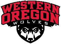 Wolves, Western Oregon University (Monmouth, Oregon) Div II, Great Northwest Athletic Conference #Wolves #Monmouth #NCAA (L8342)