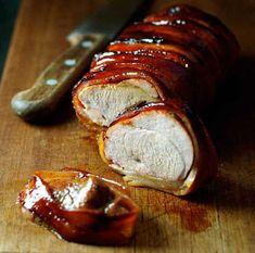 The best recipe for pork tenderloin wrapped in bacon .- The best recipe for pork tenderloin wrapped in bacon in the world! Pork Tenderloin Dutch Oven, Pork Tenderloin Recipes, Pork Loin, Bacon Wrapped Pork Tenderloin, Roasted Pork Tenderloins, Oven Recipes, Pork Recipes, Dinner Recipes, Asian Recipes