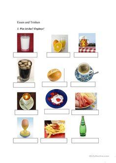 Flas- Karte: Essen und Trinken | Hallo, Kinder, wir lernen Deutsch ...