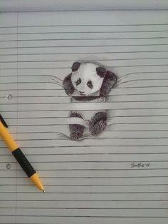 Интересные рисунки животных, застрявших в тетрадных листах! рисунок, тетрадь, карандаш, длиннопост
