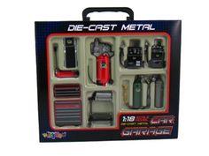 Die-cast Metal Car Garage Accessories 1:18 Scale KinsFun http://www.amazon.ca/dp/B008GPUPHO/ref=cm_sw_r_pi_dp_f6Wkub0902PPZ