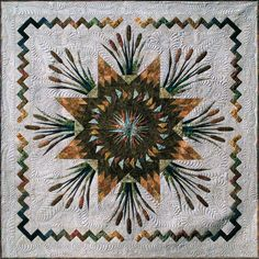 This quilt really shows the color variations in the pattern.  It gives it a totally different look.  Cattails in the Meadow