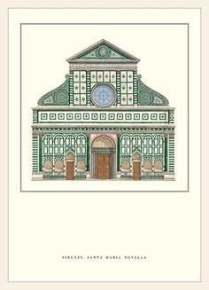 Architecture 101, Renaissance Architecture, Classic Architecture, Historical Architecture, Ancient Architecture, Leon Battista Alberti, Santa Maria Novella, Renaissance Artists, Sculpture Painting