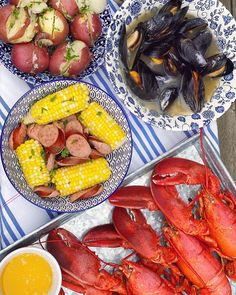 Kick off your summer staycation bucket list with a backyard lobster bake, using al fresco entertaining favorites from @CTSandThat. #ad #CTSStaycation Pork Recipes For Dinner, Supper Recipes, Delicious Dinner Recipes, Grilling Recipes, Seafood Recipes, Oven Recipes, Noodle Recipes, Fudge Recipes, Party Recipes