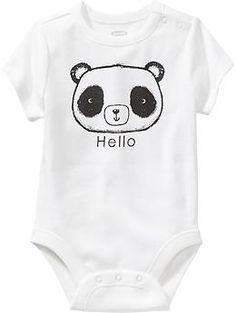 $8.94 Graphic Bodysuits for Baby