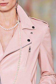 RL pink leather jacket