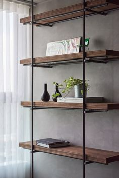 V+T Design | RAW STUFF on Behance; industrial shelf rebar