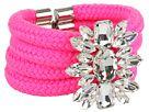 Neon Pink Embellished Crystal bracelet
