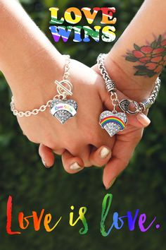 Love is love! Check out this collection of Love Wins jewelry available now.  Prices starting at only $10! #LoveWins #LoveIsLove