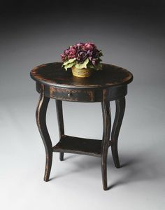 Butler Specialty Masterpiece Oval Accent Table in Midnight Rose 24W, 18D, 26H. Midnight Rose. Moderate.  #ButlerSpecialty #Home