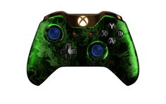 XboxOneController-GreenFire | Flickr - Photo Sharing! #Xbone #moddedcontrollers #Customcontrollers #Xbox1 #customXboxonecontroller #moddedXboxonecontroller #xboxone