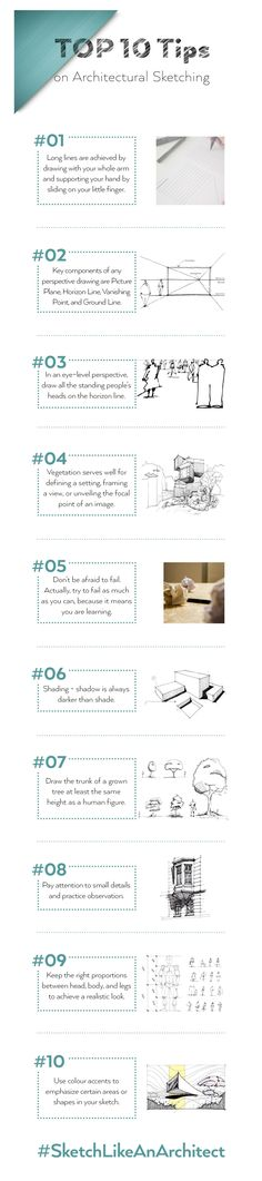TOP 10 Tips on Architectural Sketching
