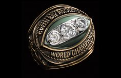 Vince Lombardi and his Green Bay Packers rose to claim the second ever Super Bowl title, which features on this program in the NFL Americas Game series. Also included are highlights from the Packers' Packers Baby, Green Bay Packers Fans, Packers Football, Greenbay Packers, Football Team, Packers Super Bowl, Super Bowl Rings, Championship Rings, Crown Jewels