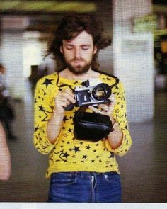 Rick Wright, Pink Floyd, Japan, August 1971. Kind of adorable.   Tumblr
