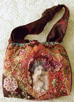 I ❤ crazy quilting . . . Sewing set. Bag to hold sewing supplies- by moananui2000