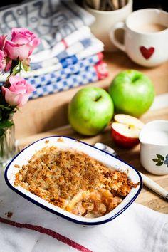 Apple Crumble & Ginger Creme Fraiche