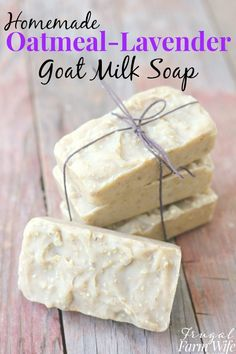 Oatmeal lavender goat milk soap is perfect for nourishing your skin during the summer months!