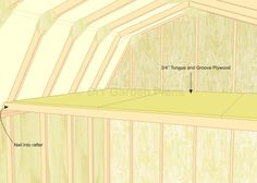 Gambrel Shed Plans With Loft: Loft: Page 12 10x12 Shed Plans, Shed Plans 12x16, Lean To Shed Plans, Shed Building Plans, Tongue And Groove Plywood, Diy Storage Shed Plans, Shed With Loft, Shed Sizes, Loft Plan